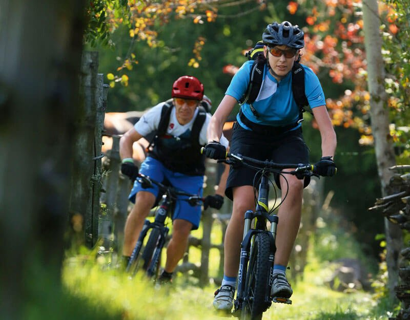 Mountainbike auf der Seiser Alm